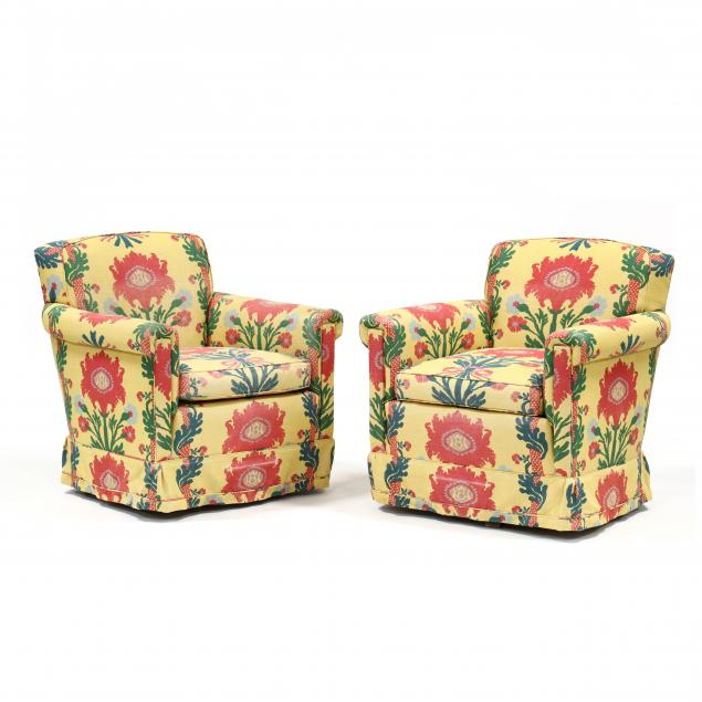 pair-of-designer-upholstered-swivel-club-chairs