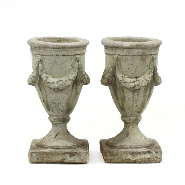 pair-of-classical-style-cast-stone-garden-urns