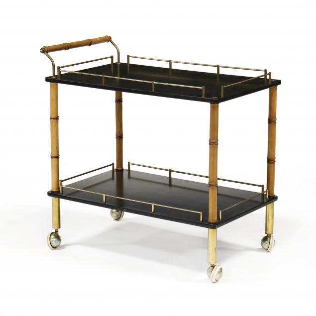 vintage-faux-bamboo-bar-cart