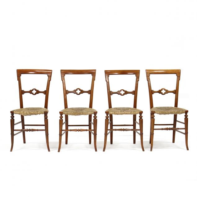 set-of-four-continental-gothic-style-side-chairs