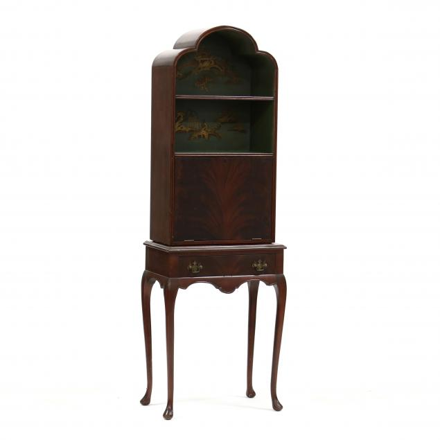 queen-anne-style-chinoiserie-diminutive-secretary-bookcase