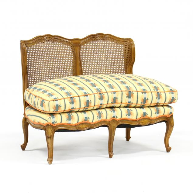 french-provincial-style-upholstered-settee