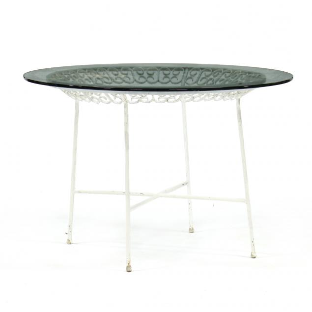 vintage-iron-and-glass-dining-table