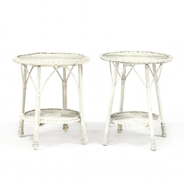 pair-of-wicker-tables