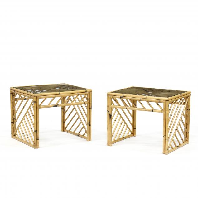 pair-of-vintage-bamboo-side-tables