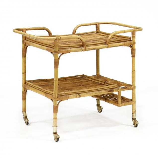 vintage-rattan-bar-cart