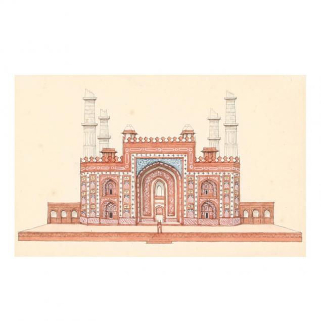 company-school-painting-of-the-tomb-of-akbar-the-great
