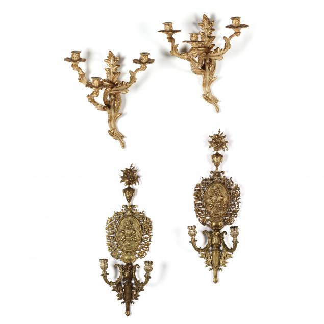 two-pairs-of-italianate-gilt-wall-sconces