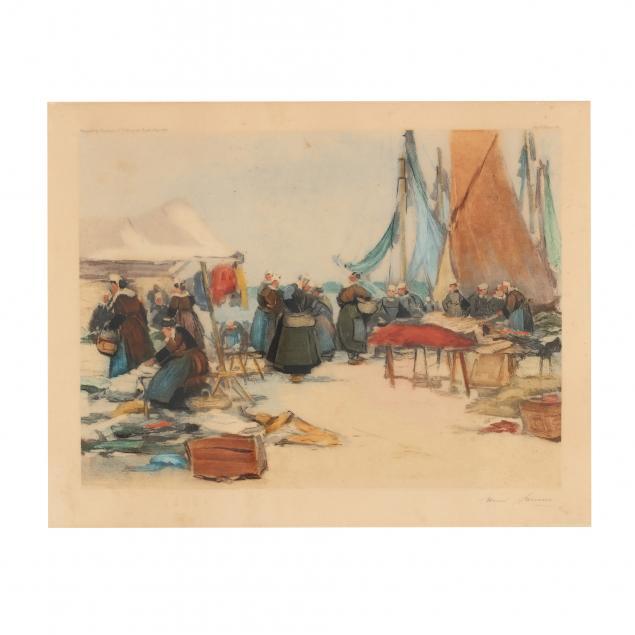henri-buron-french-1880-1969-i-brittany-harbor-i