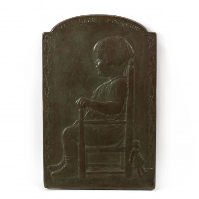 gorham-foundry-bronze-portrait-plaque-of-mary-drake-lamberton