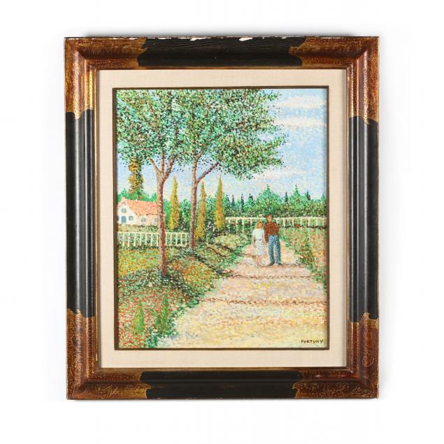 a-vintage-italian-pointillist-landscape-painting-by-fortuny