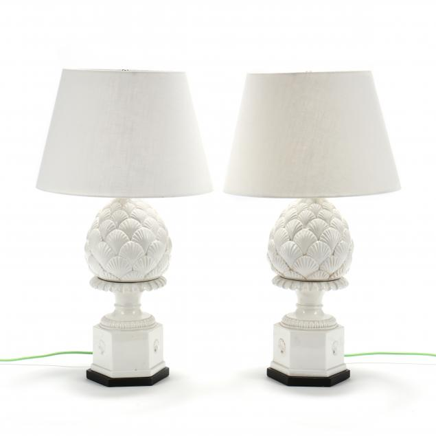 pair-of-ceramic-blanc-de-chine-artichoke-table-lamps