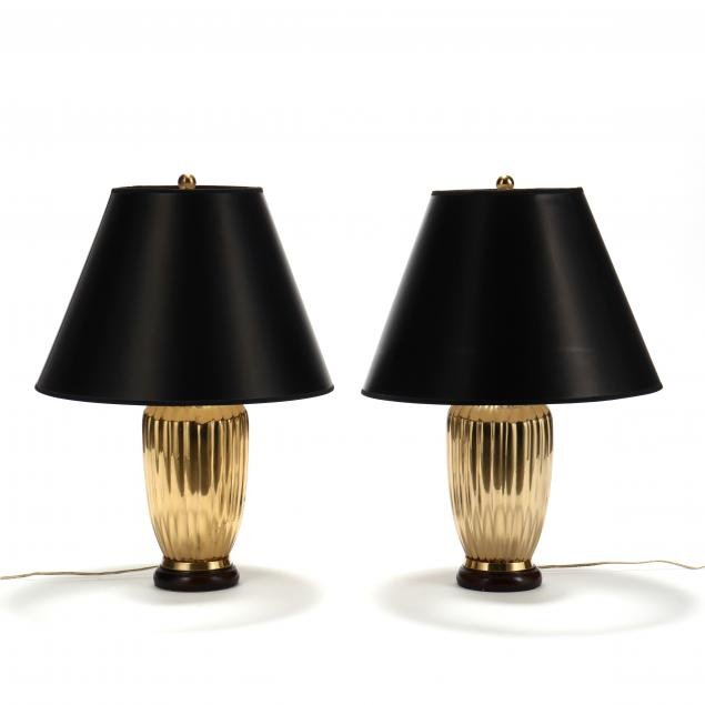 pair-of-reeded-brass-table-lamps