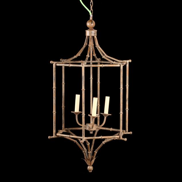 faux-bamboo-tole-pendant-light