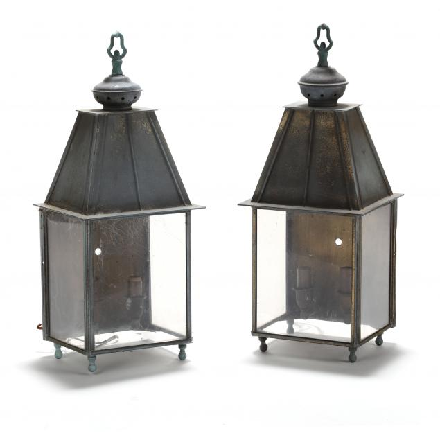 pair-of-vintage-brass-coach-style-lanterns