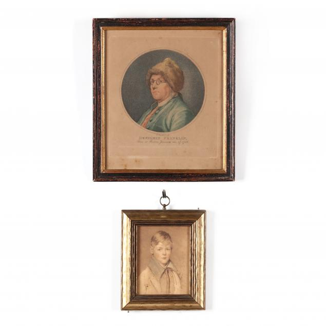 two-small-antique-portraits
