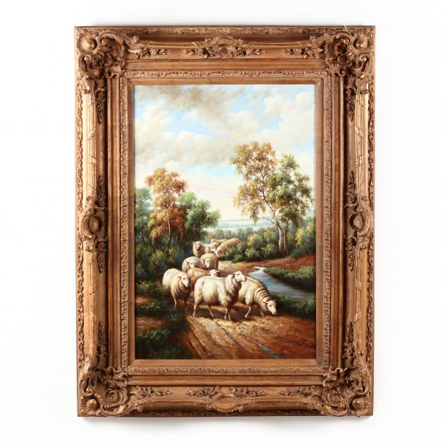 a-contemporary-decorative-painting-of-sheep-in-a-landscape