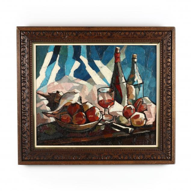 claude-venard-french-1913-1999-still-life-with-wine-bottles