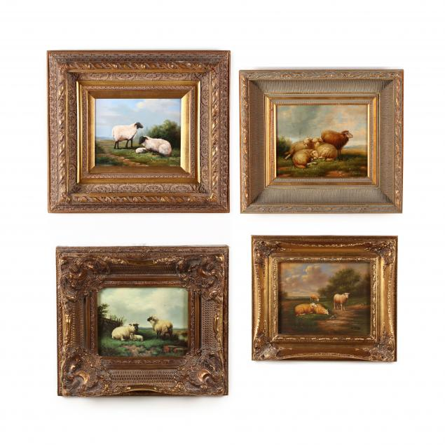 four-contemporary-decorative-paintings-of-sheep