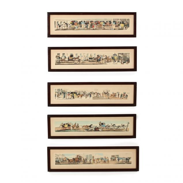 after-henry-alken-british-1785-1851-five-panoramic-carriage-prints