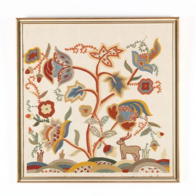 vintage-crewelwork-picture