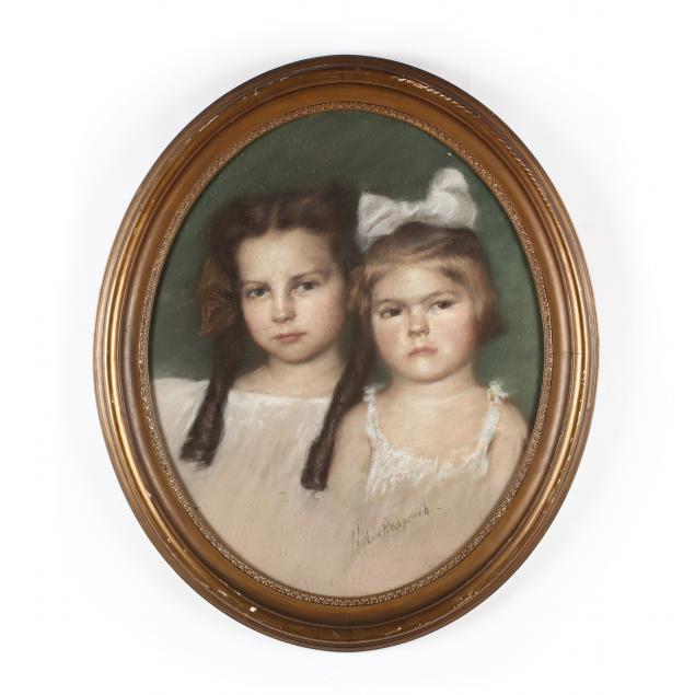 helen-dapprich-il-in-1878-1953-portrait-of-two-sisters