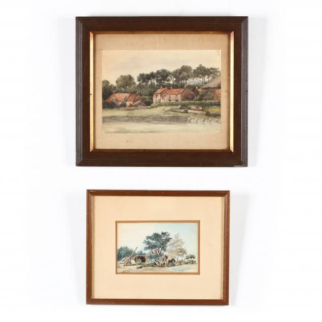 two-antique-english-school-watercolors