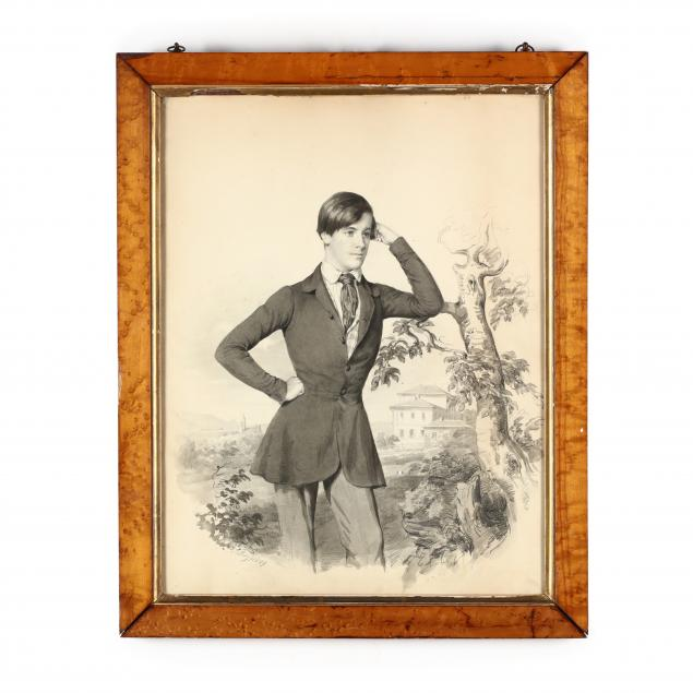 antique-english-school-portrait-of-a-young-man