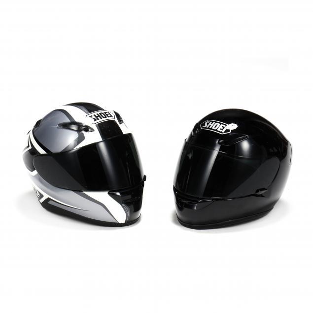 two-shoei-motorcycle-helmets