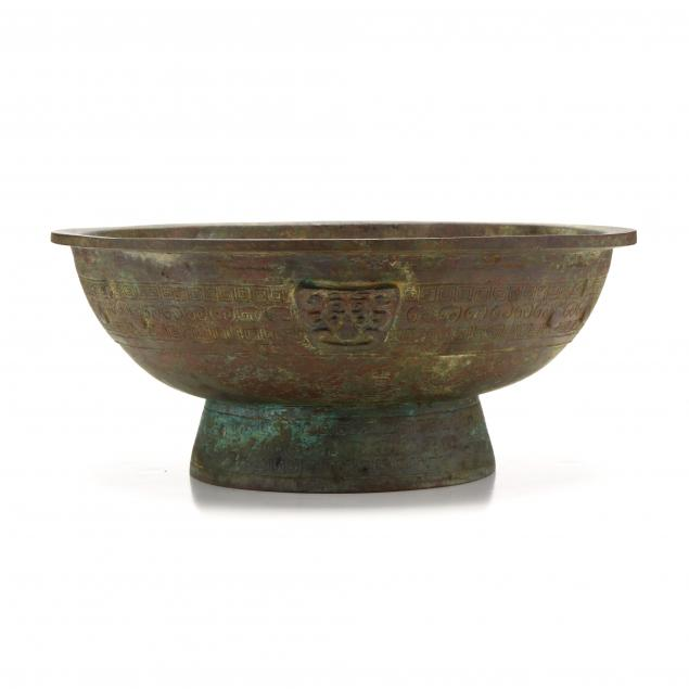 a-large-chinese-archaic-bronze-bowl