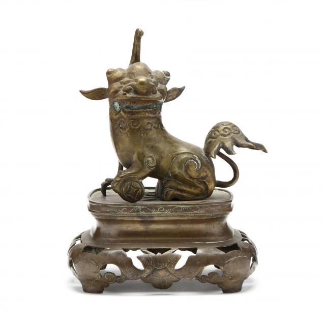 a-chinese-bronze-i-pi-yao-i-sculpture