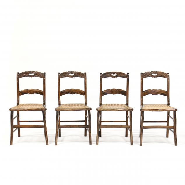 set-of-four-faux-grain-painted-side-chairs