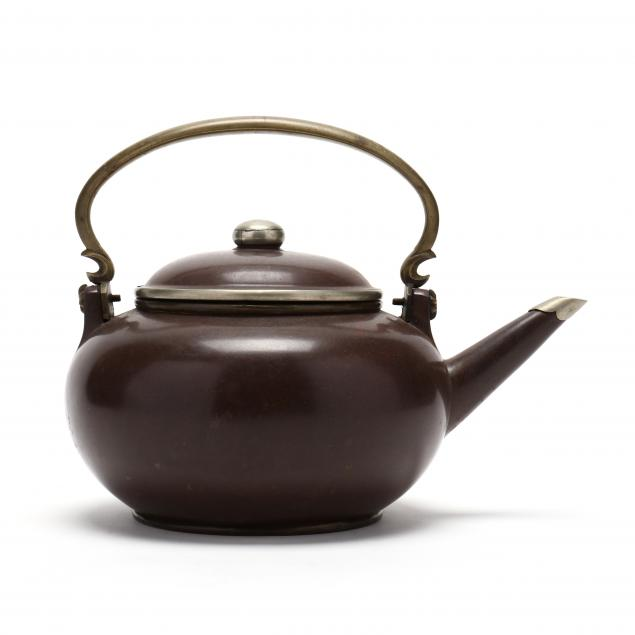 chinese-polished-yixing-teapot-with-metal-mounts