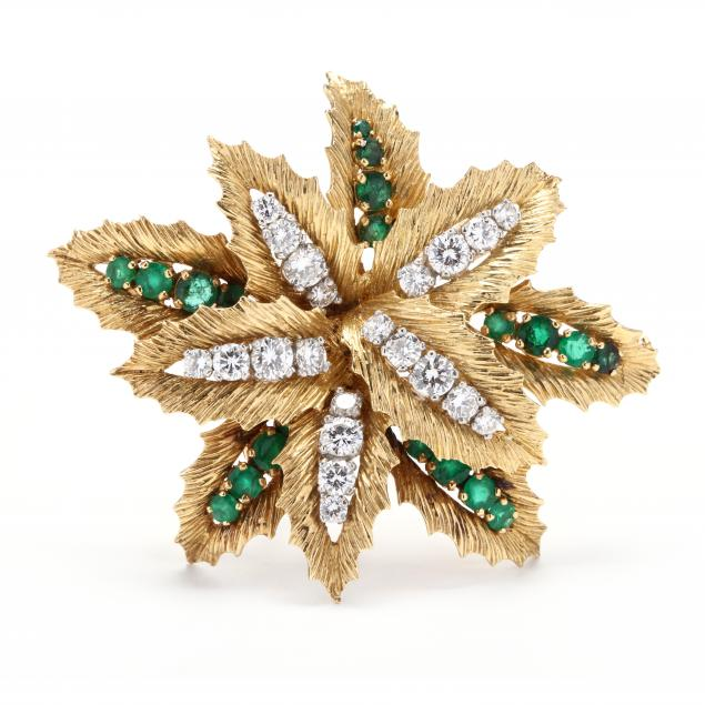 18kt-gold-platinum-diamond-and-emerald-clip-brooch-france