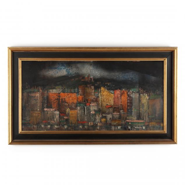 eric-gibberd-nm-france-1897-1972-i-vieux-port-at-night-marseille-i