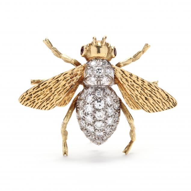 18kt-gold-and-diamond-bee-brooch-italy