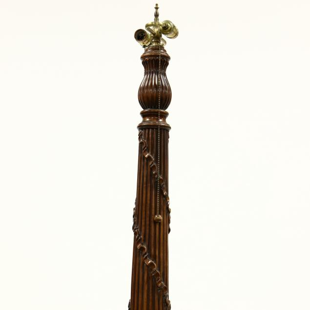 Large French Style Carved Wood Floor Lamp (Lot 191 - The ...
