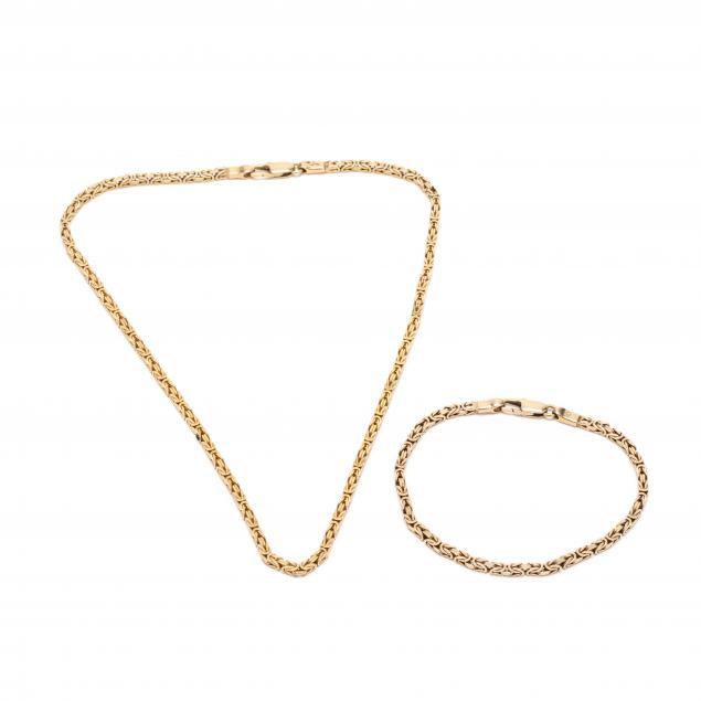 14kt-gold-necklace-and-bracelet