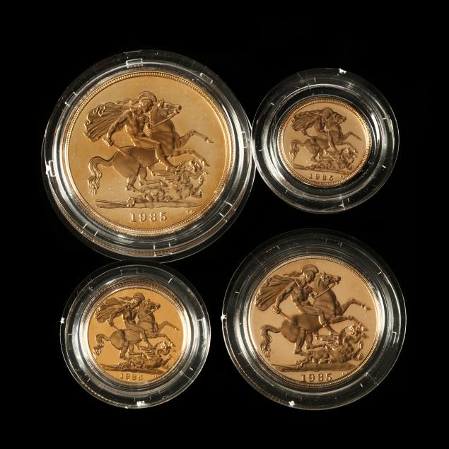 united-kingdom-1985-four-coin-gold-proof-collection