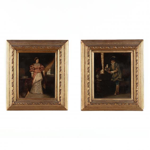 vaclav-bro-ik-czech-1851-1901-a-pair-of-genre-paintings