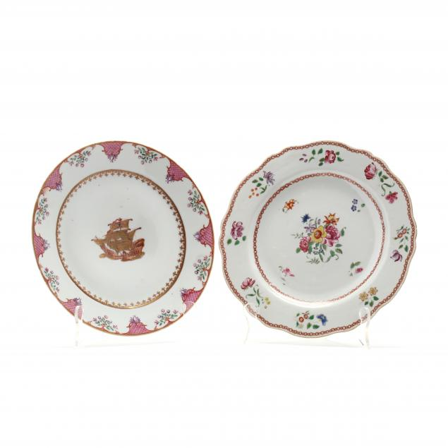 two-chinese-export-porcelain-plates