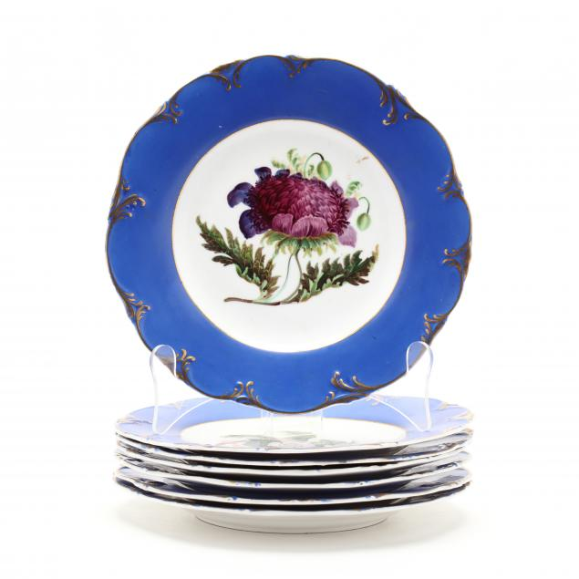 set-of-seven-limoges-hand-painted-plates