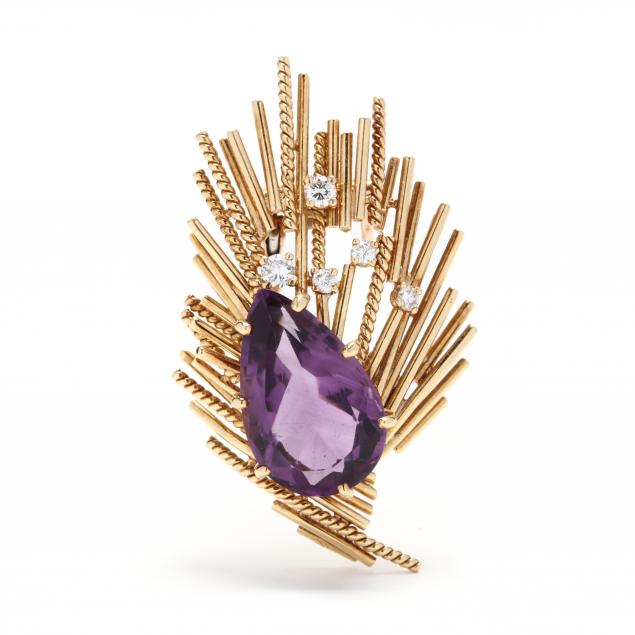 18kt-gold-amethyst-and-diamond-clip-brooch-france