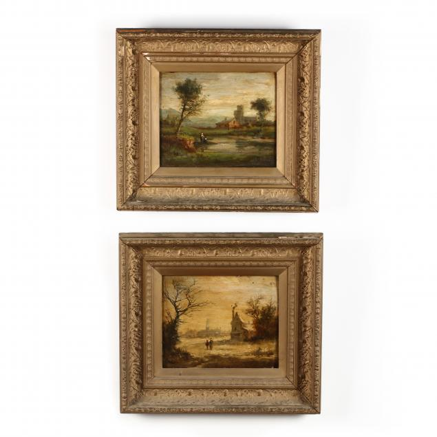 continental-school-circa-1900-a-pair-of-landscape-paintings-with-figures