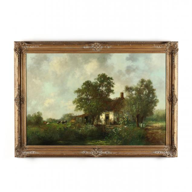 english-school-20th-century-small-croft-with-cows