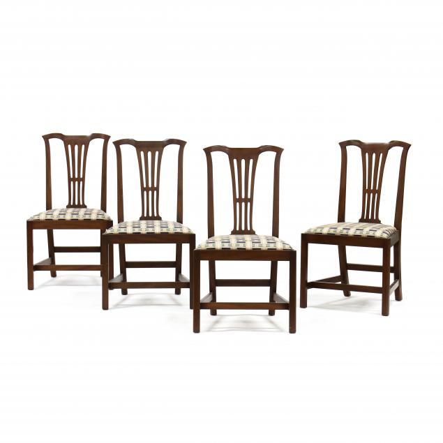 kittinger-set-of-four-chippendale-style-mahogany-side-chairs