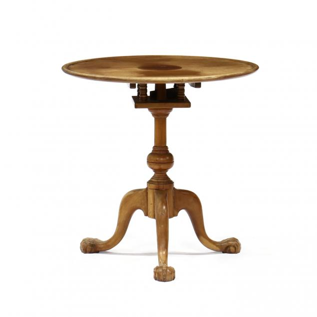 chippendale-style-carved-mahogany-tilt-top-tea-table