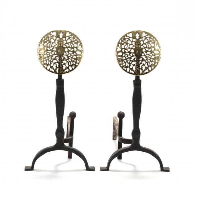 virginia-metalcrafters-pair-of-reticulated-brass-andirons