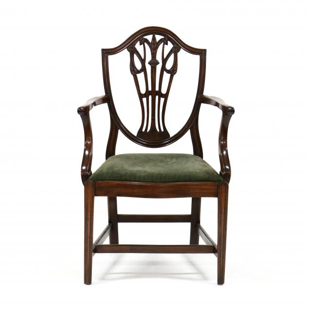 hepplewhite-carved-mahogany-armchair