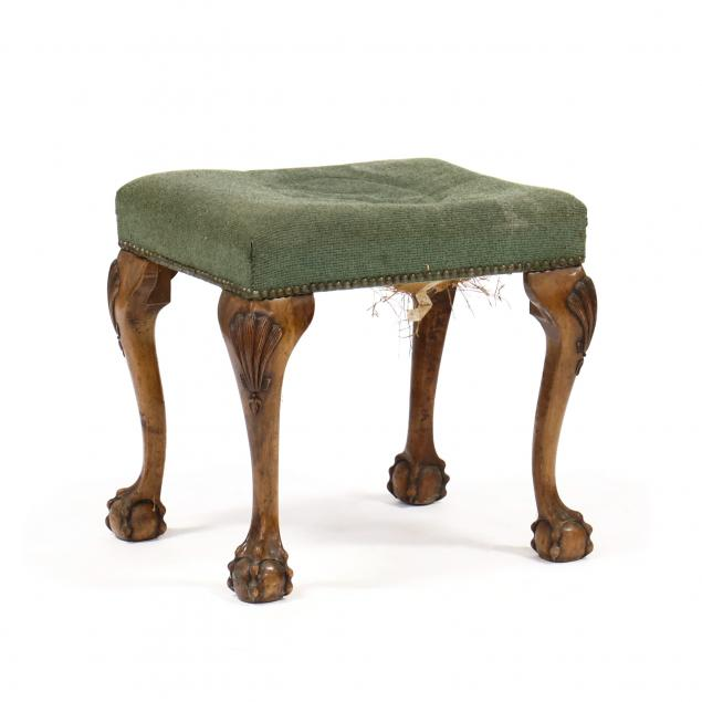 chippendale-style-carved-mahogany-stool